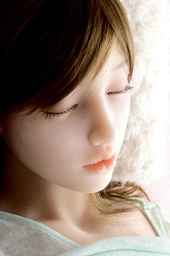 Sleep Mitsu head, silicone doll for sex
