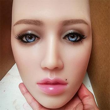 Elina head, lifesize silicone doll