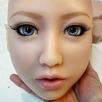 Ella head, silicone doll