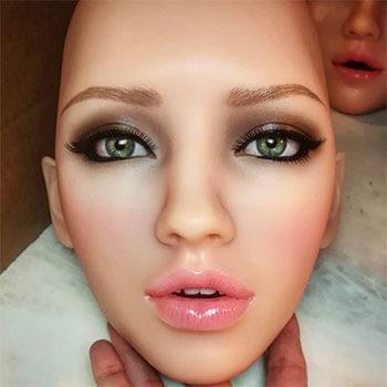 Marina head, silicone realistic doll
